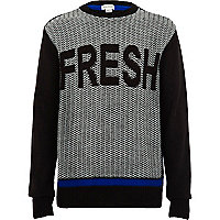 Boys black fresh jumper