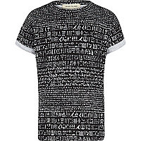 Boys black Egyptian print t-shirt