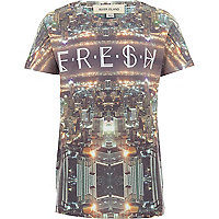 Boys white Fresh city sublimation t-shirt