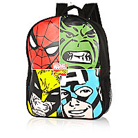 Boys black Marvel comics face off rucksack