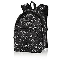 Boys black David and Goliath glow rucksack