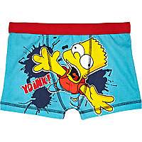 Boys blue Bart Simpson boxer shorts