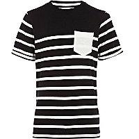 Boys black breton stripe t-shirt