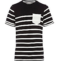 Boys black breton stripe t-shirt