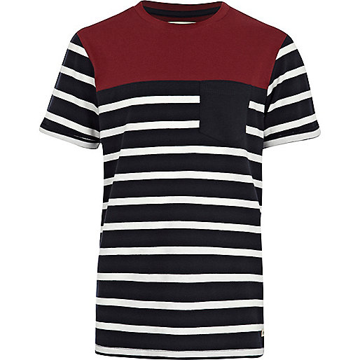 Boys white breton stripe t-shirt