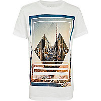 Boys white Berlin print t-shirt