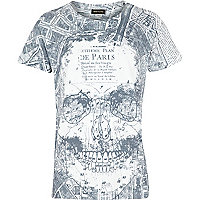 Boys white Paris sublimation t-shirt