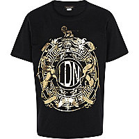 Boys black foil print London t-shirt