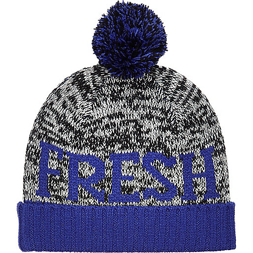 Boys grey Fresh bobble hat