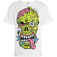 Boys white gruesome face t-shirt