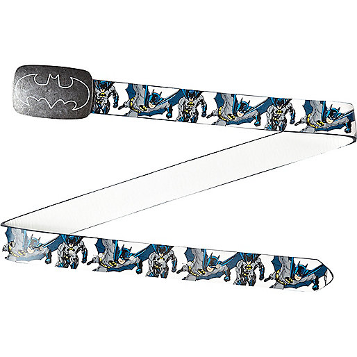 Boys white Batman printed belt