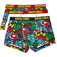 Boys Marvel Comics print boxers pack