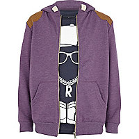 Boys purple hoodie and streetman t-shirt