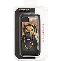 Boys black rap dog iphone 5 case