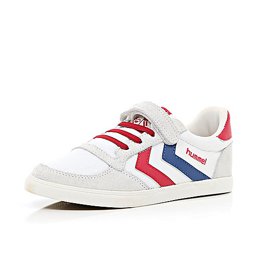Boys white Hummel canvas trainers