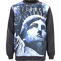 Boys purple defiance sublimation sweatshirt