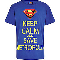 Boys blue Superman keep calm t-shirt