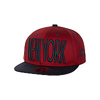 Boys dark red New York trucker hat