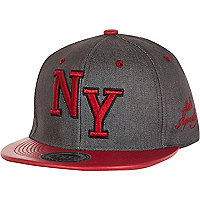 Boys grey NY trucker cap