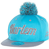 Boys blue and grey Harlem bobble trucker hat