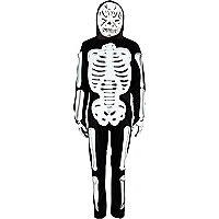Boys black skeleton costume