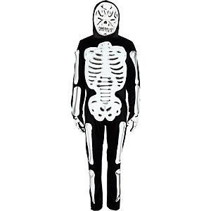 Boys black skeleton costume