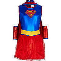 Girls red Supergirl costume