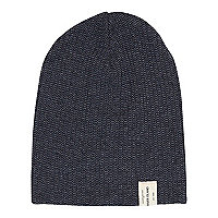 Boys blue twist knit beanie