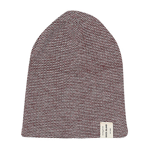 Boys red twist knit beanie