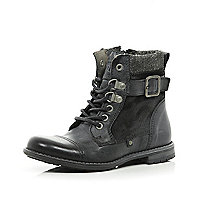 Boys black worker boots