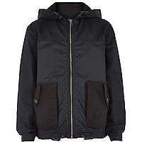 Boys navy riften wind breaker jacket
