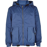 Boys dark blue riften wind breaker jacket