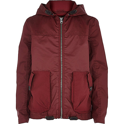 Boys red riften wind breaker jacket