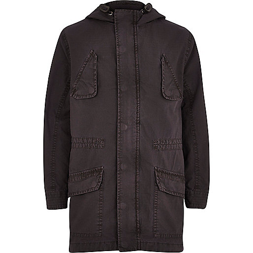 Boys dark grey halcyon parka