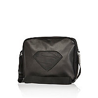 Boys black Superman messenger bag