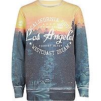 Boys navy LA sublimation print sweatshirt