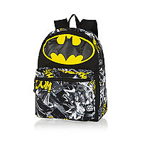 Boys black Batman comic rucksack