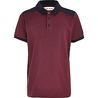 Boys red spot polo shirt