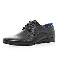Boys black smart lace up shoes