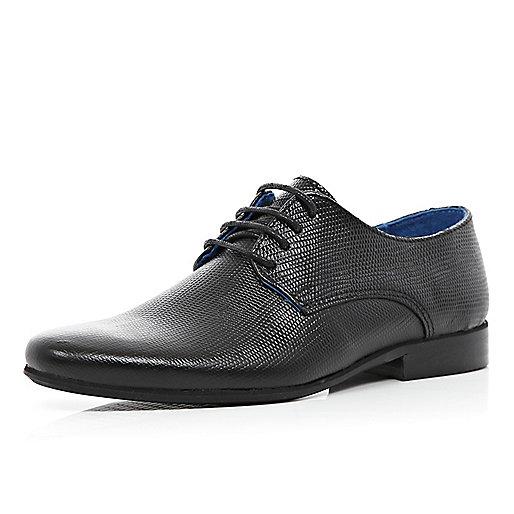 Boys black smart lace up shoes