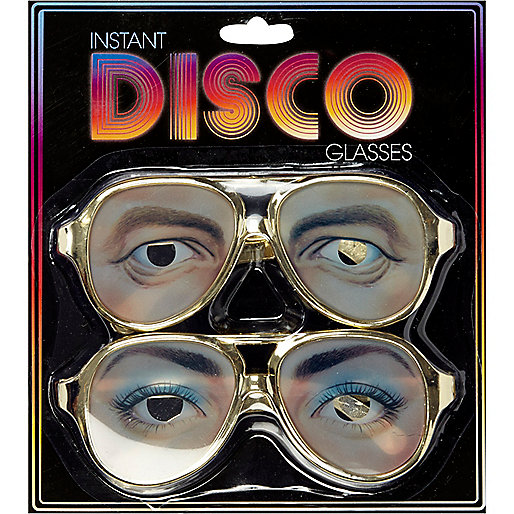 Kids black disco glasses