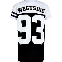 Boys black westside 93 mesh t-shirt