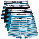 Boys blue 5 pack stripe underwear