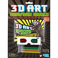 Boys black mini 3d dinosaur art