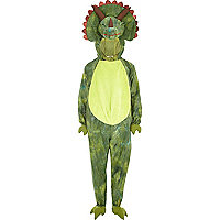 Boys green dinosaur costume