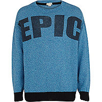 Boys blue epic jumper