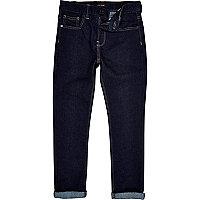 Boys dark raw wash sid skinny jeans
