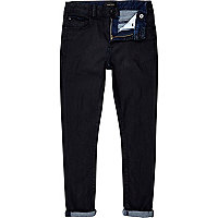 Boys dark denim coated skinny jeans