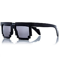 Boys black brick shape sunglasses