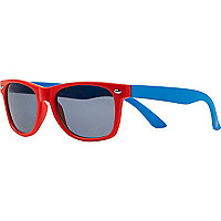 Boys orange colourblock retro sunglasses